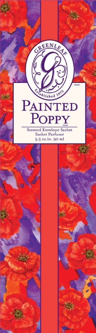 Greenleaf Slim Scented Sachet - Painted Poppy